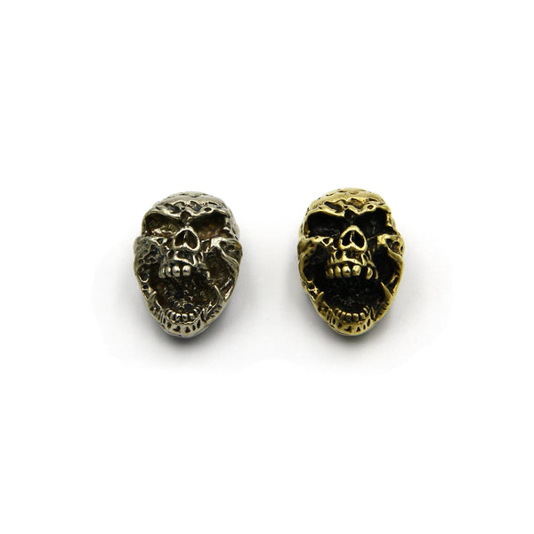 Horrible Skull Head Concho Screw Conchos Screwback Studs Leathercraft Rivets - Metal Field
