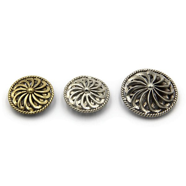 Fan Style Leather Craft Decoration Conchos Leather Bag Handmade Accessories - Metal Field