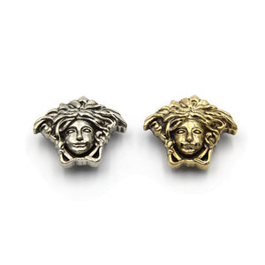 Medusa Brass Conchos Handmade Leather Screwback Studs Leathercraft Rivets - Metal Field