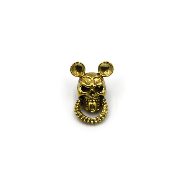 Skull Mouse Conchos With Hook, Decoration Accessories, Retro Brass Rivets, Screw back - Metal Field
