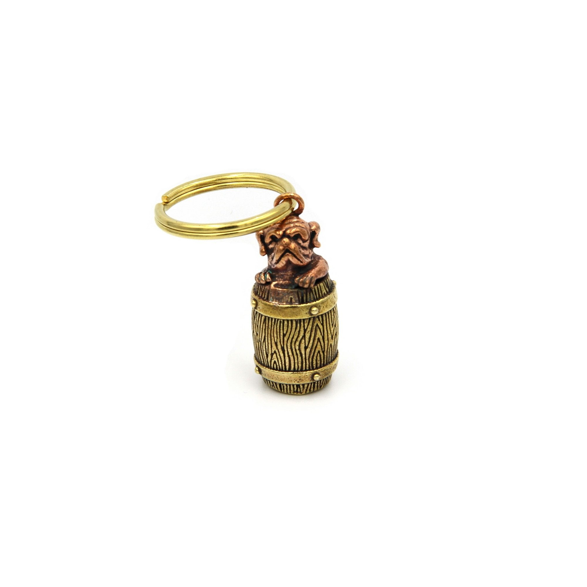 Dog Bucket Keychain Decoration Pendant - Metal Field