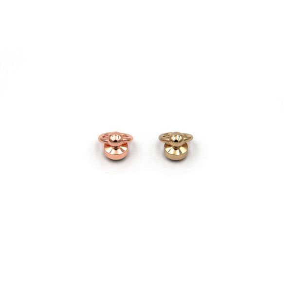 Rose Gold/Gold/Silver Swivel Ring Brass Craft Screws Rivets with Loop Leather Studs Copper - Metal Field