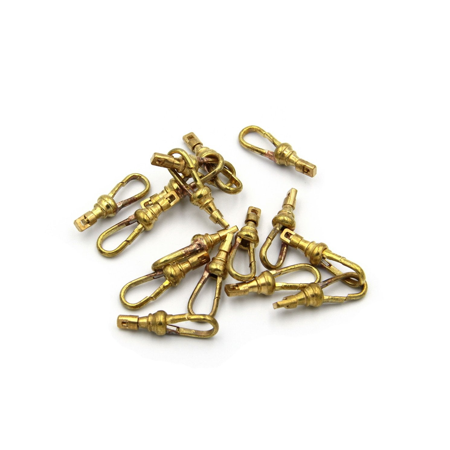 Brass Spring Hook for paracord lanyard Leather bracelets Strong Snap Clip - Metal Field