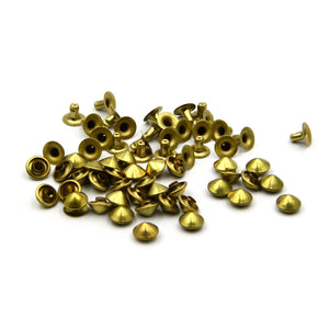 Brass Mushroom Stud&Rivets Snap Buttons for DIY Leather Crafts Repairs Decorations - Metal Field