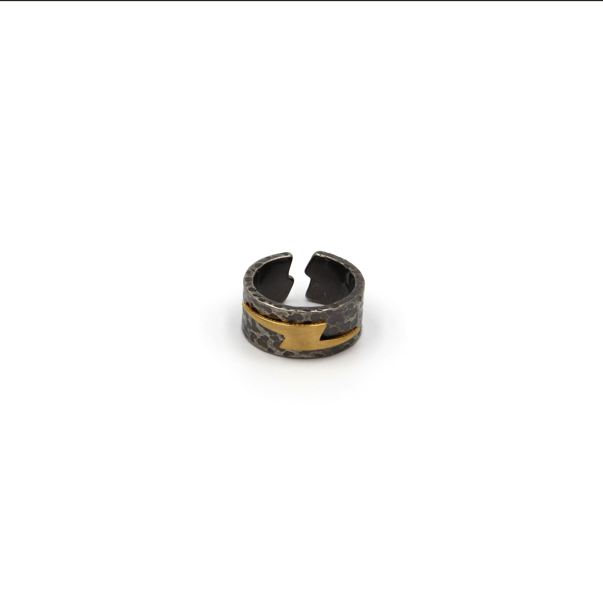 Lightning Band Ring Men Fashion - Metal Field