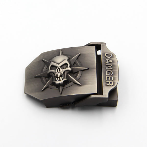Skull belt buckle Biker Buckle Zinc Alloy - Metal Field