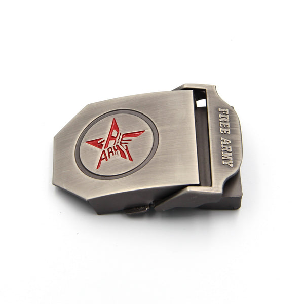 Free Army belt buckle Automatic Canvas belt buckle - Metal Field