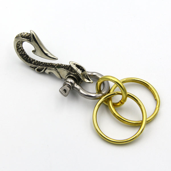 Handcrafted Men Key Chain Ring Manager - Metal Field