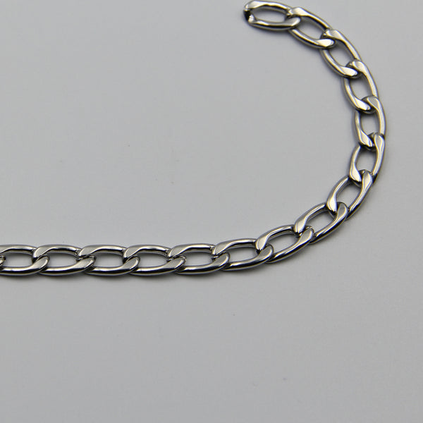 Figaro Chain Silver Stainless Steel 7,5mm - Metal Field