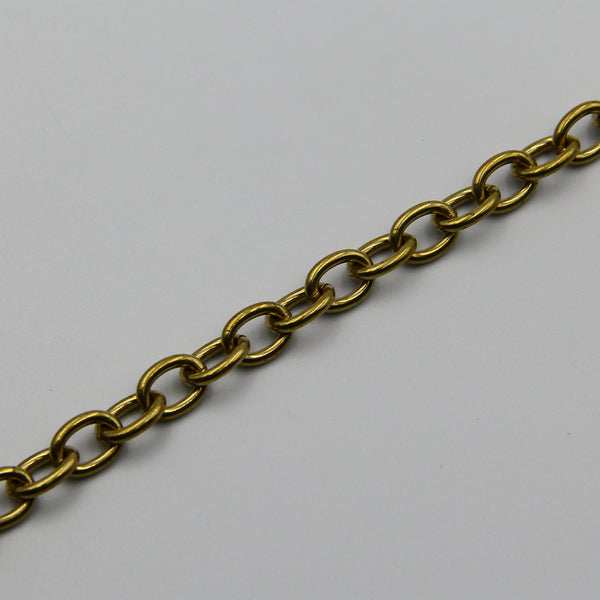 Cable O Shape Chain 7mm O Cross Wallet Brass - Metal Field