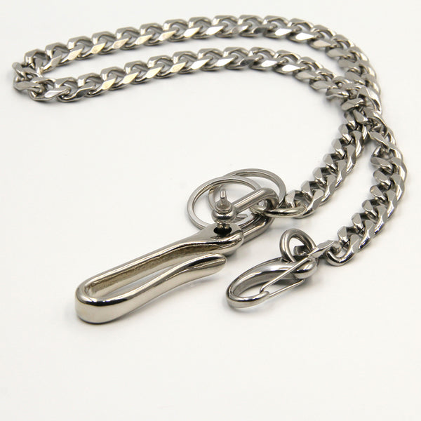 Silver Wallet Chain Leather Belt Key Holder Best for Men - Metal Field