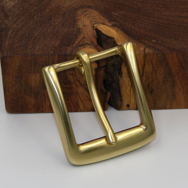 Retro Brass Buckle, Van-Tanned Belts - Metal Field