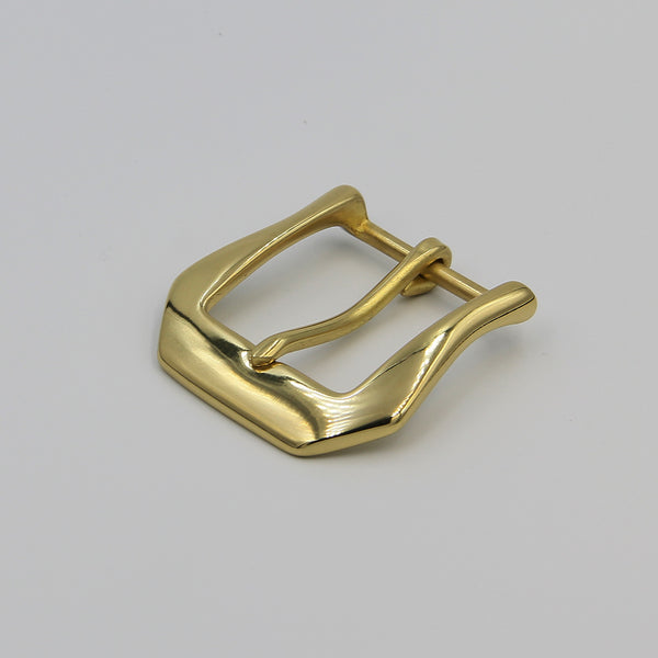 High Polishing Glass Finish Golden Brass Buckle - Metal Field