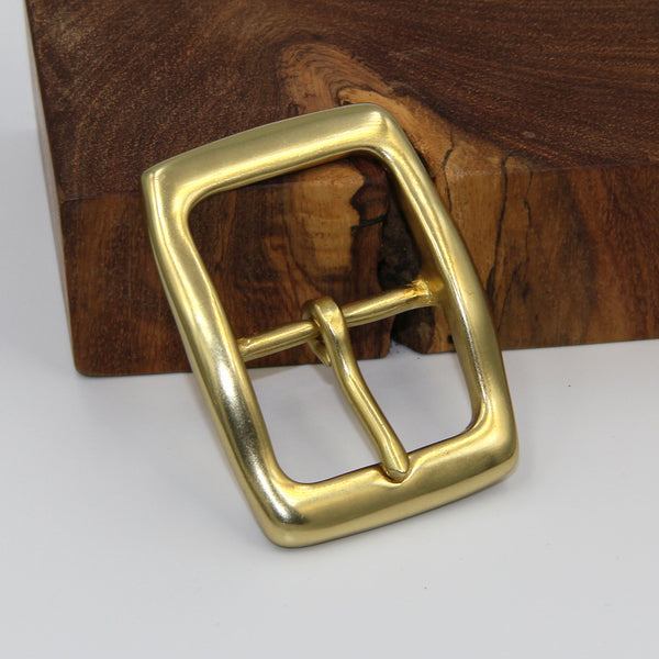 Men Fashion Belt Buckle Heavy Duty Solid Brass Classical Tongue - Metal Field