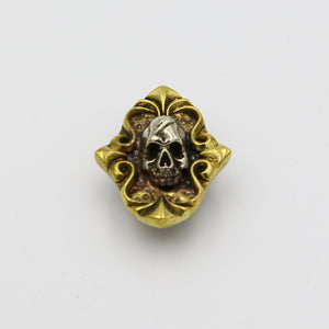 Bauhinia Skull Brass Conchos Handmade Leather, Conchos Screwback Studs Leathercraft Rivets Clothing - Metal Field