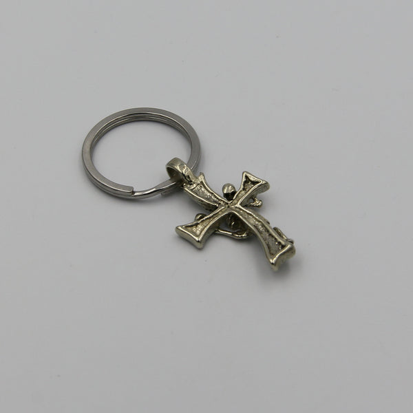 Skull Pendant Key Chain Cross Necklace - Metal Field