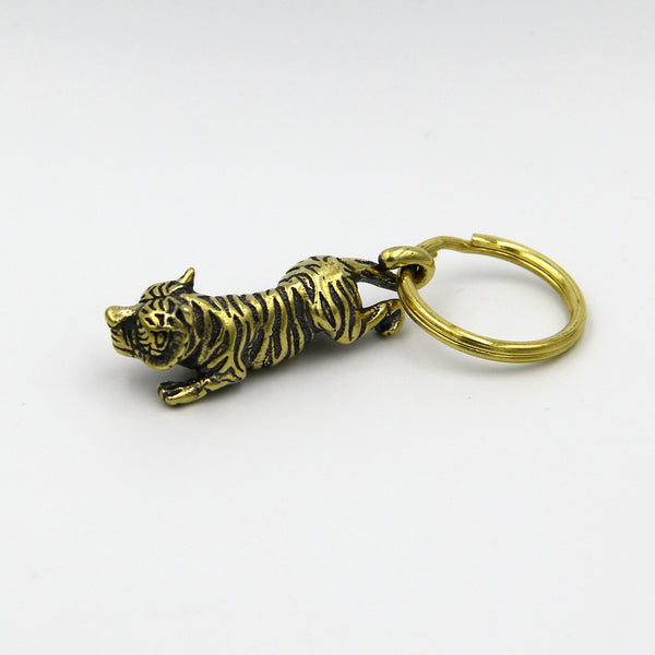 Zodiac Tiger Pendant Keychain Decoration - Metal Field