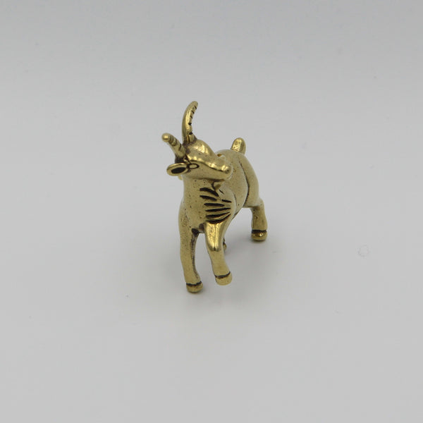 Brass Goat Keychain Pendant Clothing Decoration Gift - Metal Field
