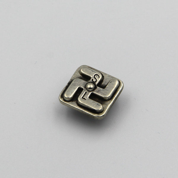 Buddhist Design Concho Screw Back for Leathergoods Decoration - Metal Field