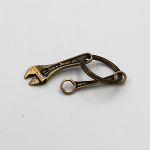 Brass Wrench&Spanner Key Chain Decoration - Metal Field