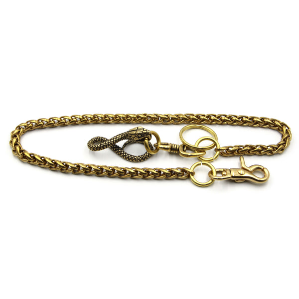 Key Holder Wallet Brass Chain Heavy Duty Key Rings Belt Keychain Palma 8mm - Metal Field