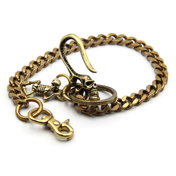 Biker Wallet Chain Brass Skeleton Design - Metal Field