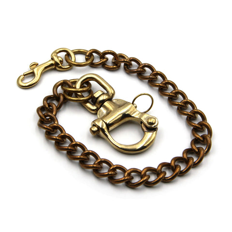 Anchor Snap Hook Keychain Mens Brass Best Key Ring Clip Heavy Duty - Metal Field