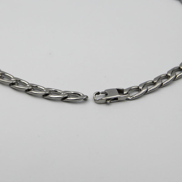 Stainless steel Curb Chain Mens Necklace - Metal Field