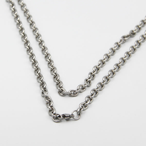Stainless Steel Necklace Cable Necklace Stainless chain Guy necklaces - Metal Field