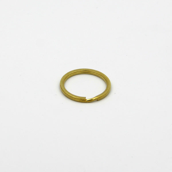 25mm split rings, Solid brass split key rings, Brass split ring - Metal Field