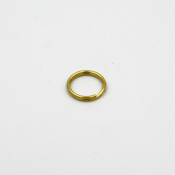 Split Ring Brass 15mm - Metal Field