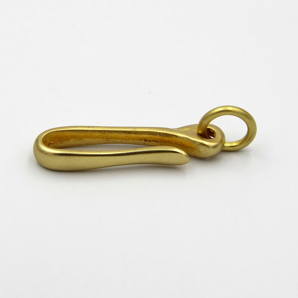 U Shape Brass Hook Keychain Clasp with Ring - Metal Field