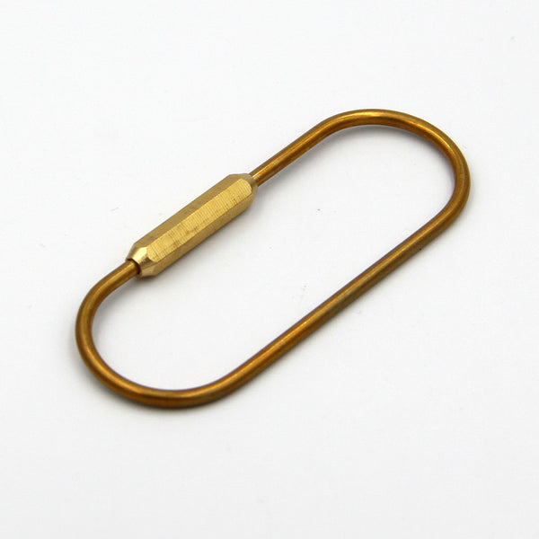 O Shape Brass Wired Key Chain Holder - Metal Field