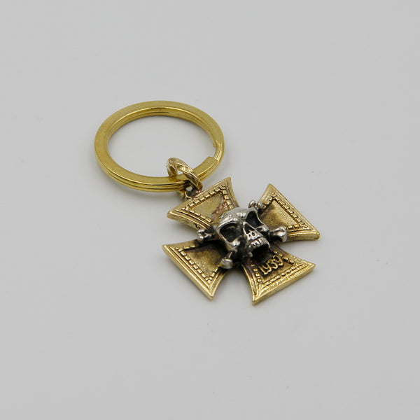 Exclusive Cross Skull Key Chain Decoration - Metal Field