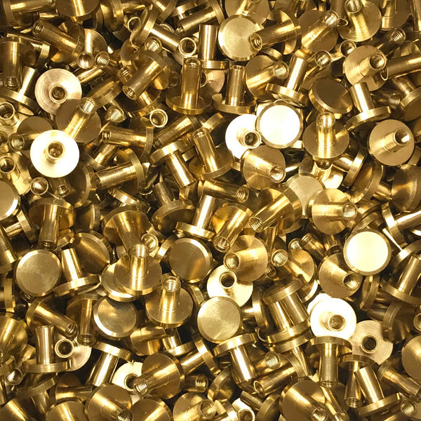 Brass Chicago Screws, book screws, decorative chicago screws for leather, Chicago rivet - Metal Field