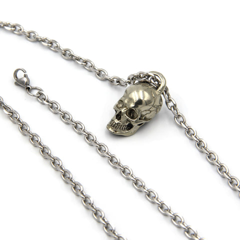 Necklace Skull Pendant Mens Jewellery Neck Chain - Metal Field
