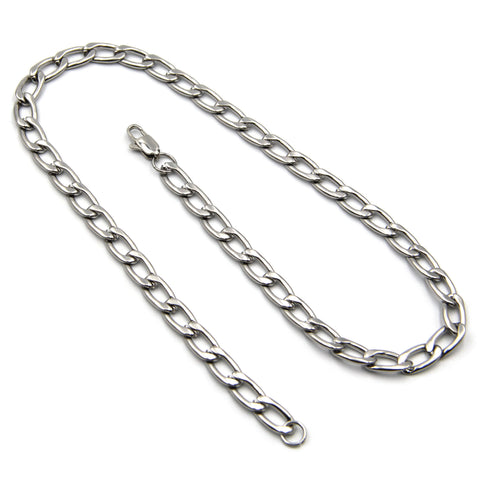 Curb Men chain design Necklace Women - Metal Field