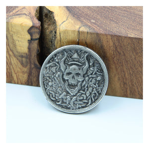 Old Silver Hobo Satan Devil Coin - Metal Field