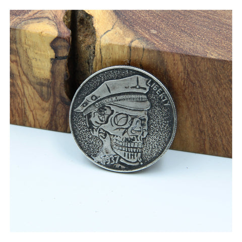 Police Skull Coin Penny - Metal Field
