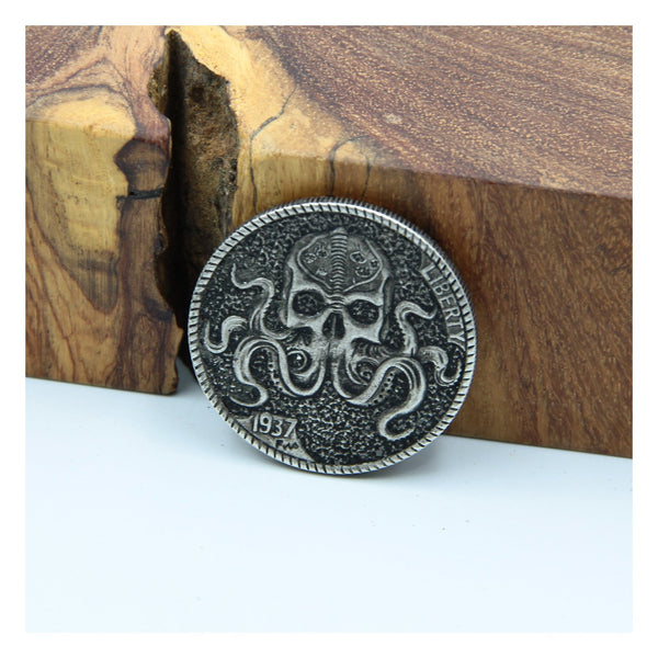 Octopus Monster Coin Leather Craft Stamp - Metal Field