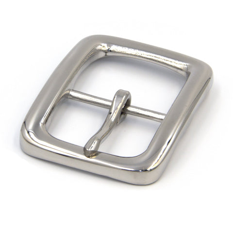 Durable Shiny Stainless Buckle For Men's Leather Belt - Metal Field