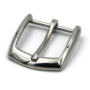 Stainless Steel Belt Buckle Shiny Silver Leather Strap Buckles 35mm - Metal Field