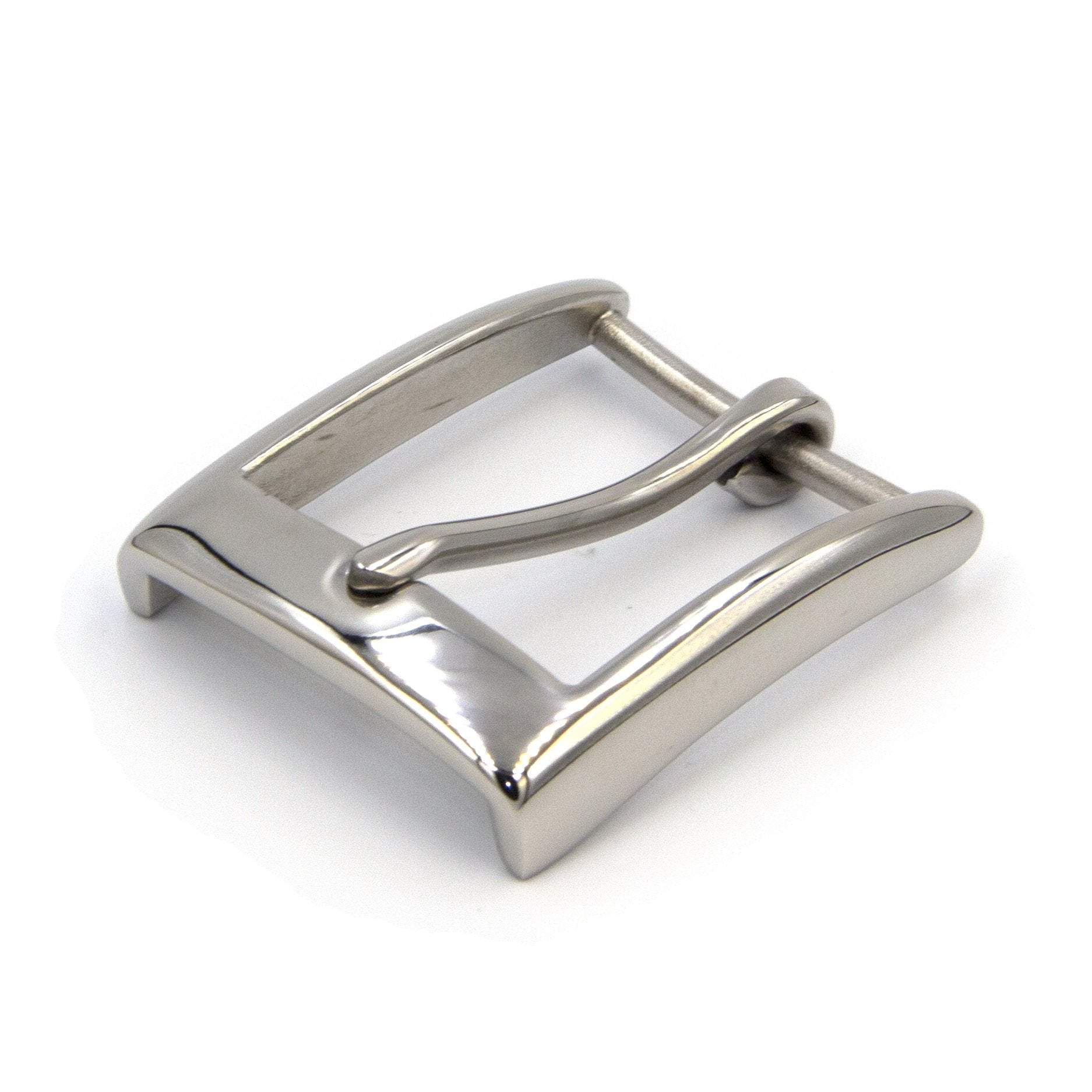 Buckle For Leather Crafts, Shiny Finish, Stainless - Metal Field