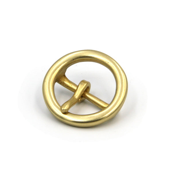 30mm Round Brass Buckle Golden Women - Metal Field
