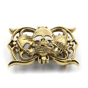 Show Off Fashion Jewelry Buckle Brass Belt Buckle Gold Color 40mm - Metal Field