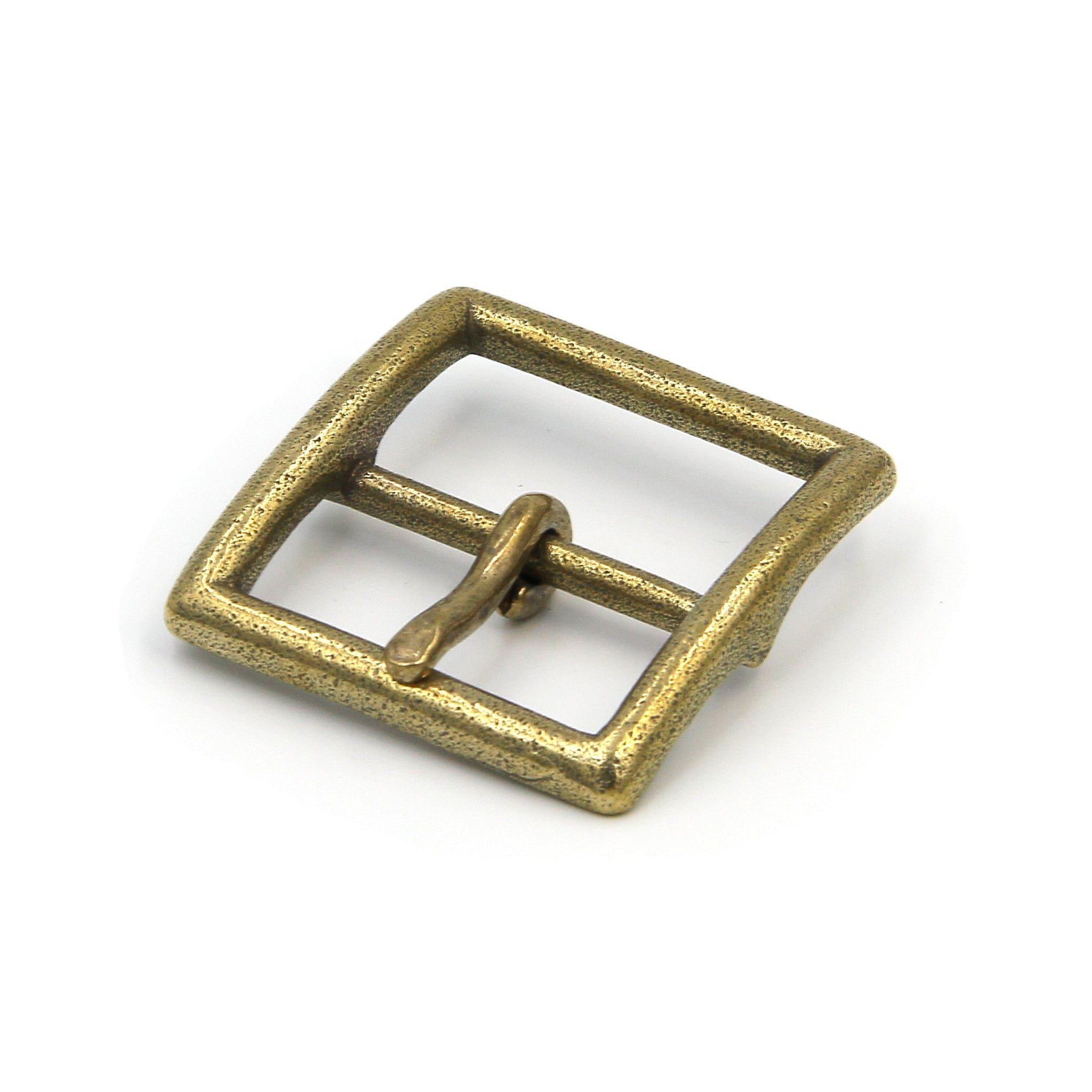 Retro Brass Vintage Buckle for Handmade Leather Belts - Metal Field