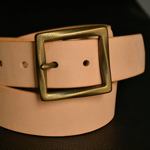 Vintage Finish Retro Brass Buckle Men Fashion - Metal Field