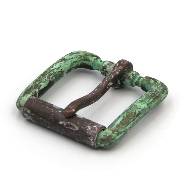 Cowboy Bronze&Green Rusty Finish Single Rod Roller Bar Buckle Men - Metal Field