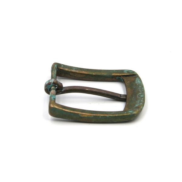 Vintage Bronze Buckle For Leather Belt Handcrafted - Metal Field