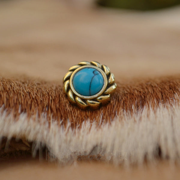 Turquoise Eye Conchos Leather Decoration Acessories - Metal Field